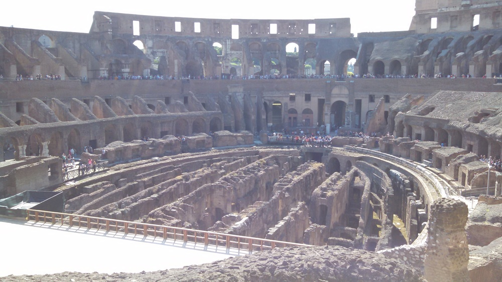 Interior of the Colloseum (Rome, Italy)