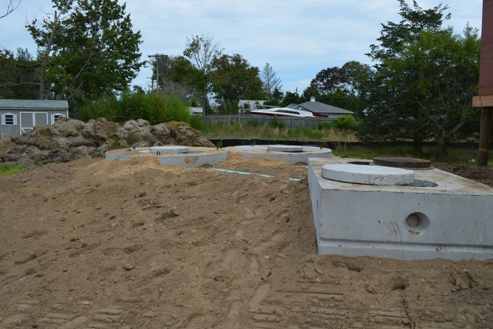 Sunset Green Home Septic Tanks Installed