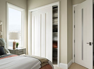 TruStile  certified 75% recycled MDF  doors with no added urea-formaldehyde (NAUF) featured in the  2014 New American Home , co-sponsored by  NAHB  and  Builder Magazine