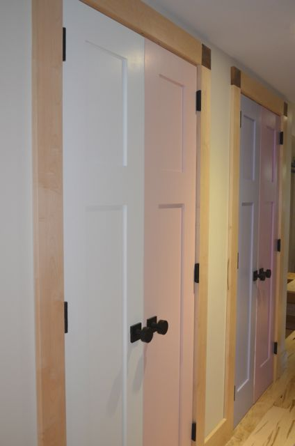 TruStile NAUF MDF doors painted with no VOC paints in colors inspired by a western evening sky
