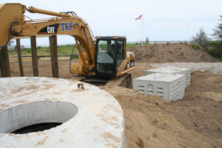 Sunset Green Home's septic tank and leaching pools