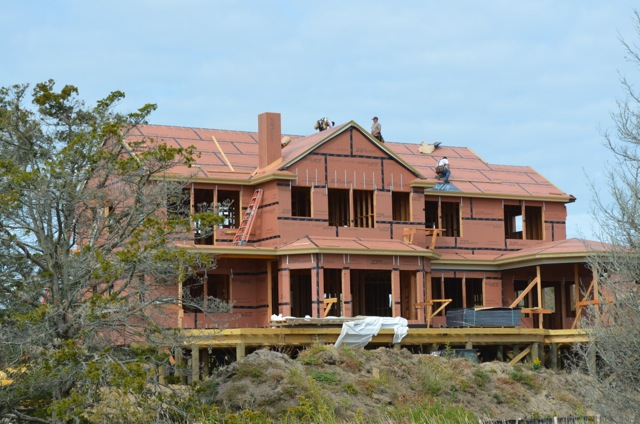 Huber Engineered Woods' ZIP System  sheathing on Sunset Green Home's roof