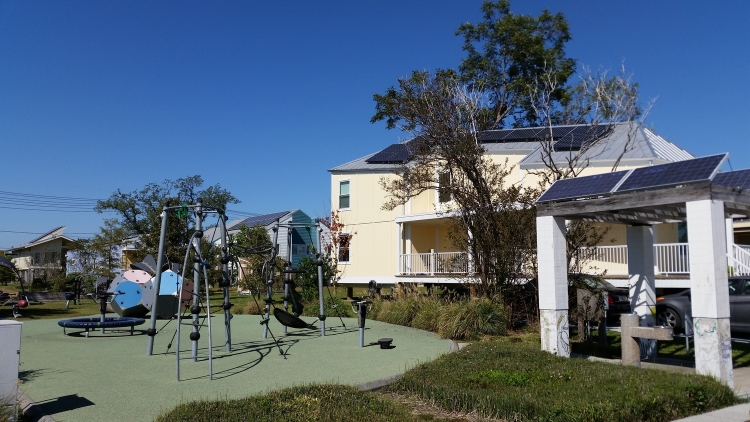 Make It Right's LEED Platinum community in the Lower Ninth Ward