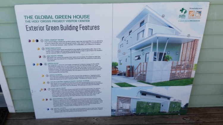 Sustainable features of the Global Green homes
