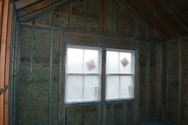 CertainTeed's FortiCel protective mildewcide on Sunset Green Home's interior framing