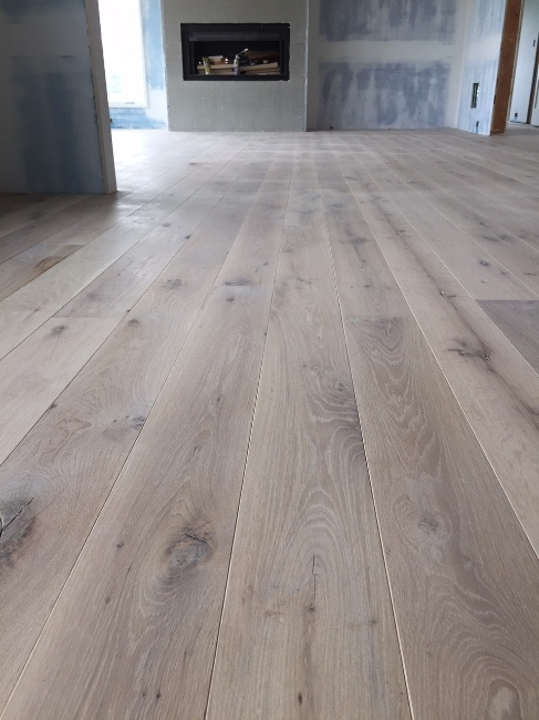 Woodwrights Wide Plank white oak floor, milled and finished locally