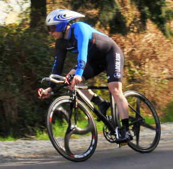 Local Ride Racing's Julian Base in the time trial. Photo: Paul Craig