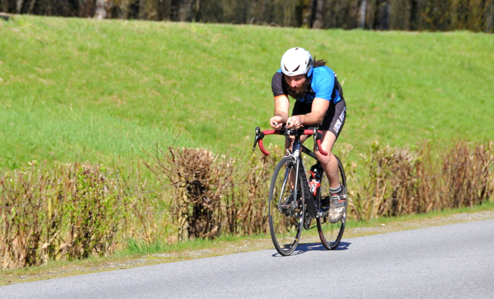 Local Ride Racing's Rich Machhein competes in the Airport TT on Saturday, April 12. Photo: Paul Craig
