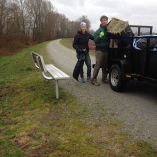 The crew setting up for Jeremy's Roubaix! See you all there tomorrow morning! #hellnorthofthefraser