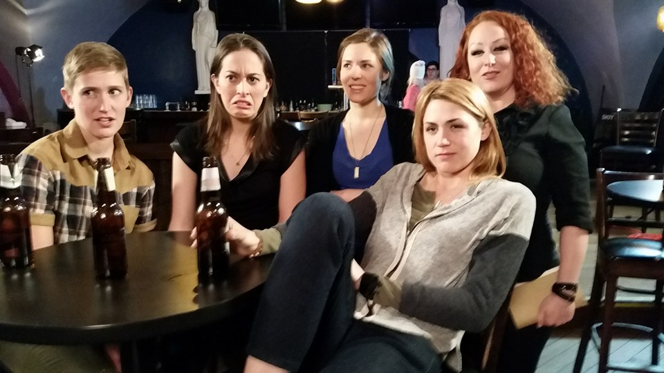 With the ladies of  Easy Abby  season two, directed by Wendy Jo Carlton. L to R: Shannon Noll, me, Tuckie White, Tamale Sepp and Keight Lane. January 2016.