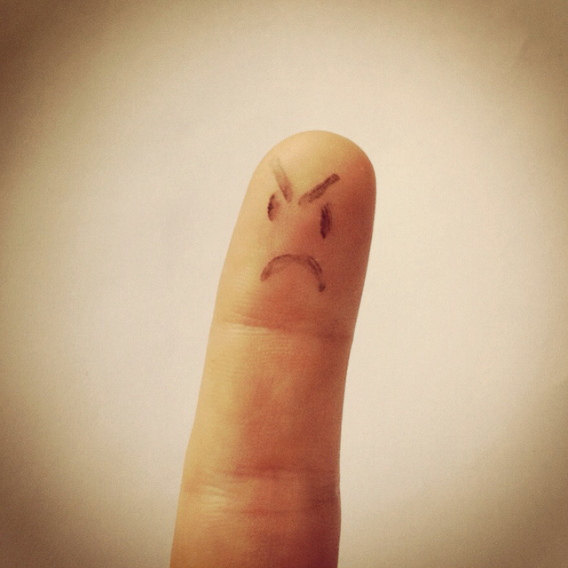 """ Angry Finger "" by  John Mutford  on  Flickr"