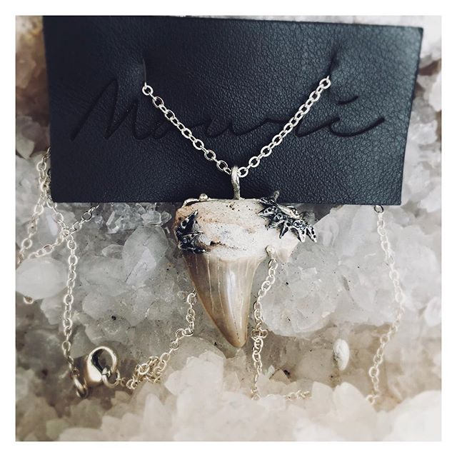 """You will never tame her, for she is the sea"". -JmStorm *One of a Kind Shark Tooth Talisman* . . . . . . #wildchild #mermaidjewelry #wildthingyoumakemyheartsing #oceanvibes #talisman #sharktooth #aquamarine #sterlingsilver #jewelry #necklace #oneofakind #longbeachartist #californiamade #ooak #staywild #adventureseeker #gypsysoul #bohemian #adorn #vitaminsea #wearwhatyoulove #tuesday #instagood #tributetothesea #ladyarmor #womanwarrior"