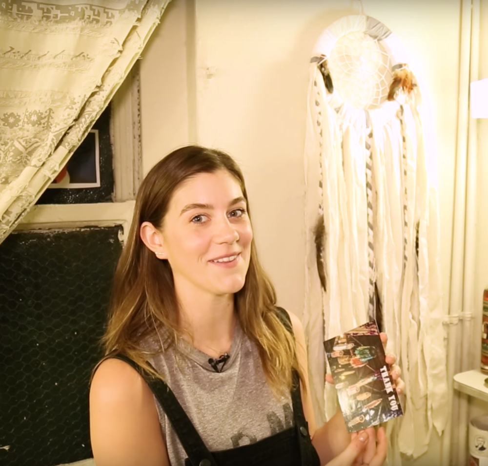 Broadway.com - My Space: Laura Dreyfuss of DEAR EVAN HANSEN  - SpokeWoven dreamcatcher #1 of her 5 favorite things in her dressing room