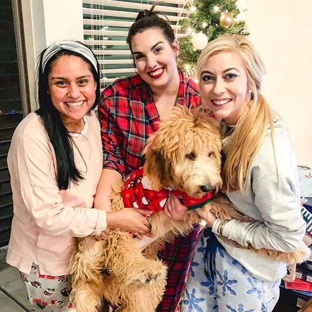 | 12.14.18 | Christmas szn w/these babes + the Andy Dwyer to my April Ludgate (no really, we're wearing cats + dogs!)
