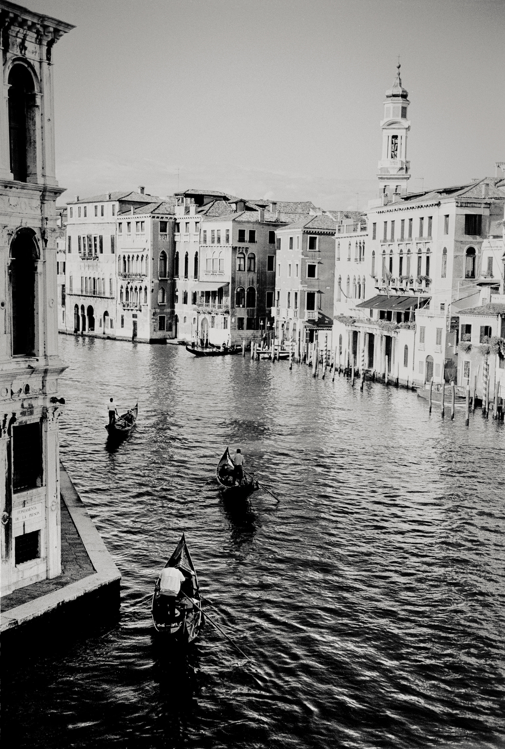 three gondolas, Venice, Italy 2001.