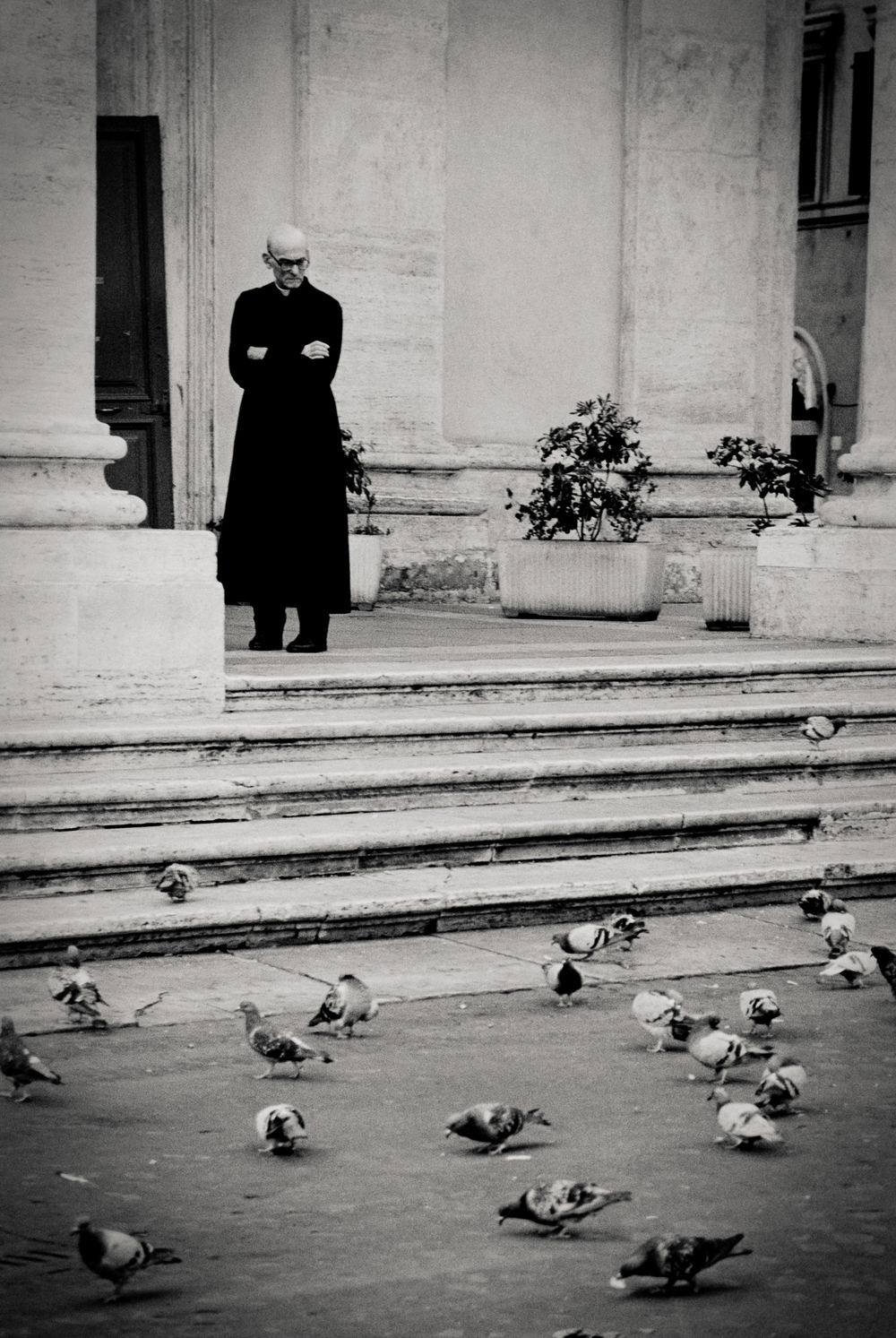 priest, Florence, Italy 2001.
