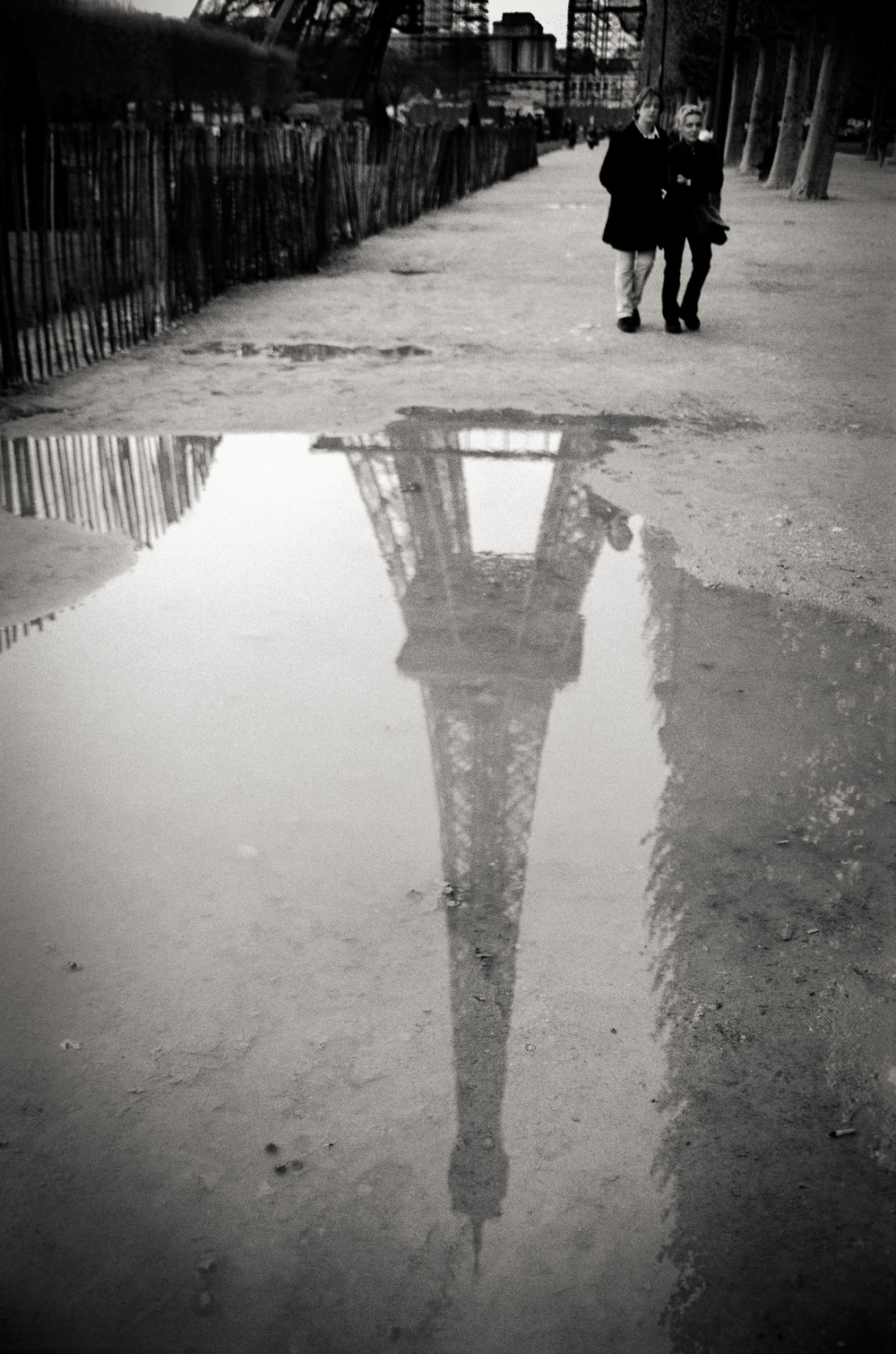 Eiffel Tower refection, Paris 1999.