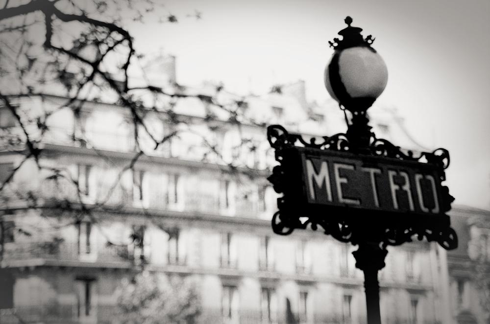 metro sign, Paris 1999.