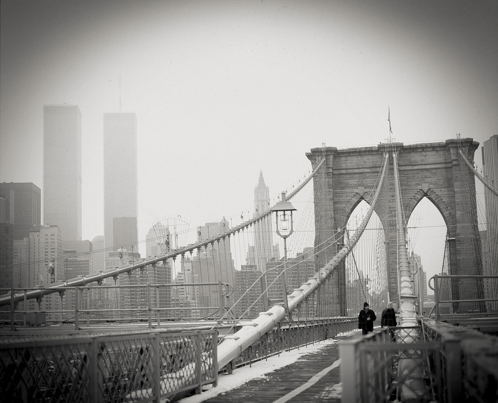 Brooklyn Bridge, Twin Towers, NY 1998.