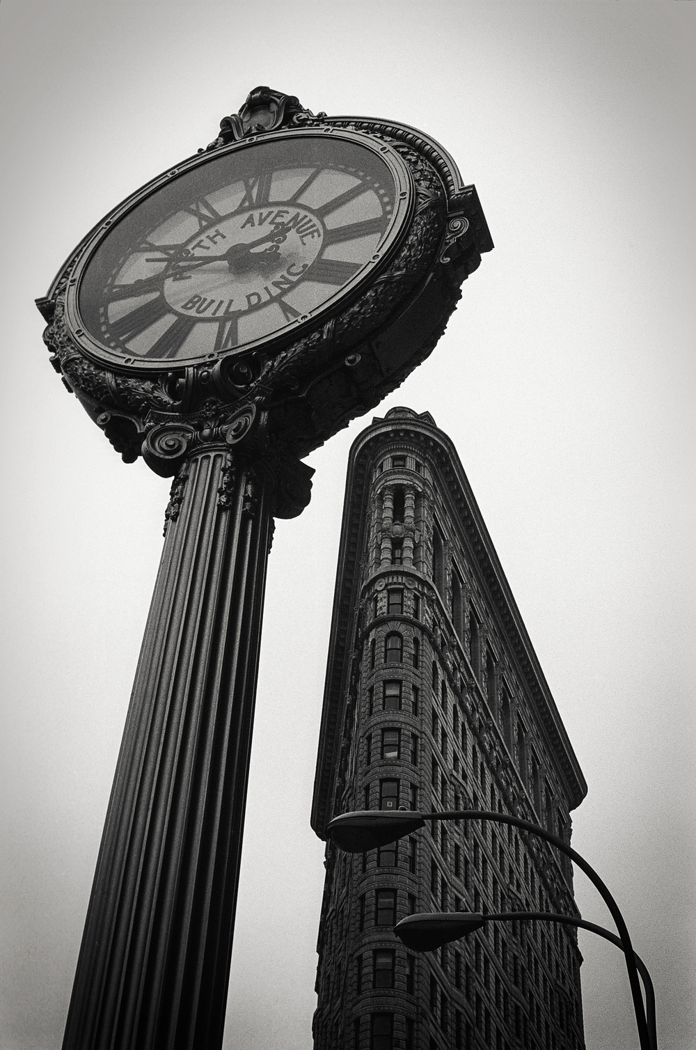 5th Ave building clock, Flatiron building, NY 1997.