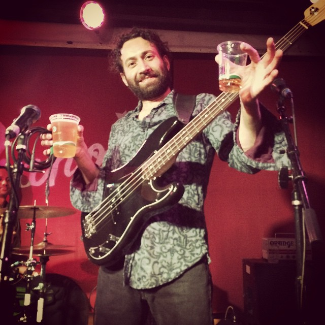 One of our coolest engineers, Merter Yildirim, killin it at the bass and life.