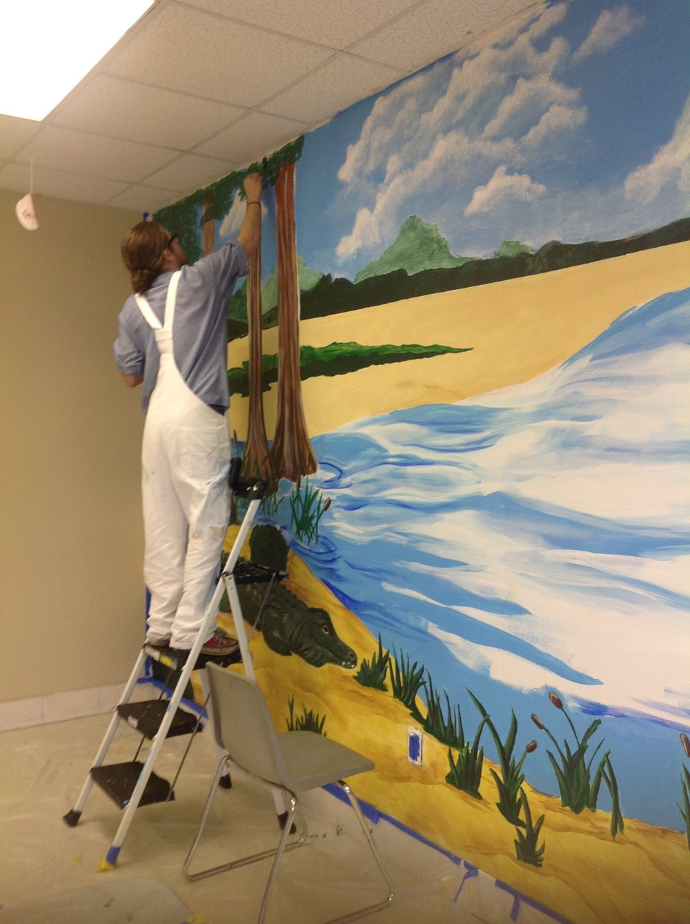 YMCA Classroom Mural-In Progress