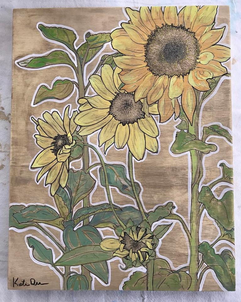 SOLD Costal Sunflowers