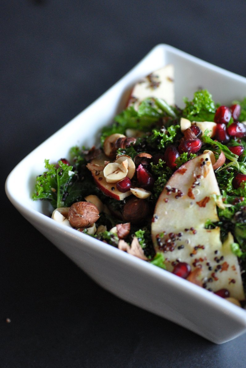 Black Quinoa Kale Salad with Toasted Hazelnuts — The Naked Fig
