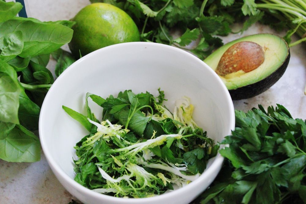 Tropical Herb Chopped Salad with Lime Cilantro Dressing ...