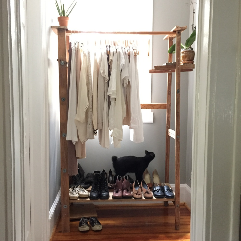 ... So We Turned A Ladder Into A Clothing Rack And Put It In An Awkward  Cubby Creating More Closet Space. Donu0027t Be Afraid To Think Outside The Box!