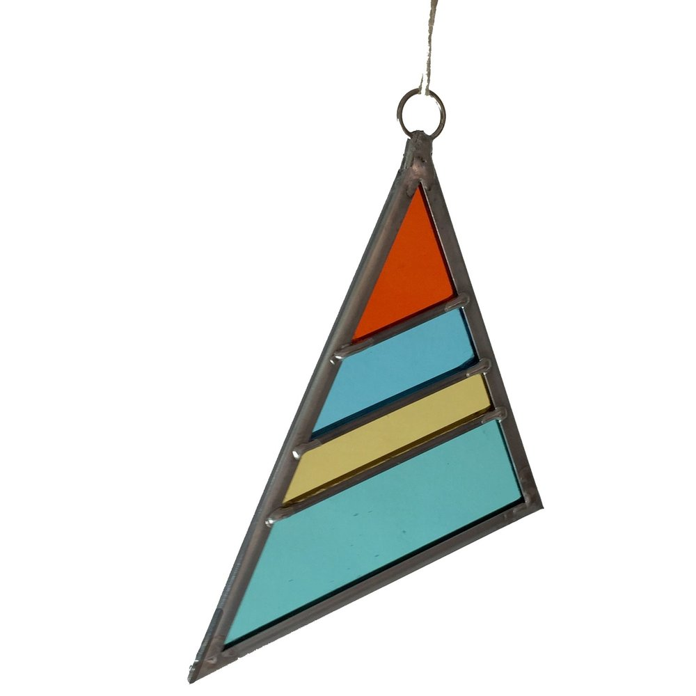 Stained Glass Triangle $35