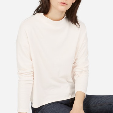 Everlane Mock Neck Tee $25