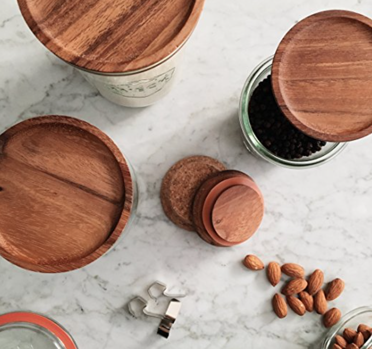 Wooden Lids for Weck Jars $11