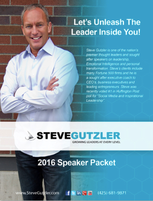 Be inspired and have Steve at your next conference! Click to view Steve's Speaker Packet and specifics about his keynote presentations and trainings.
