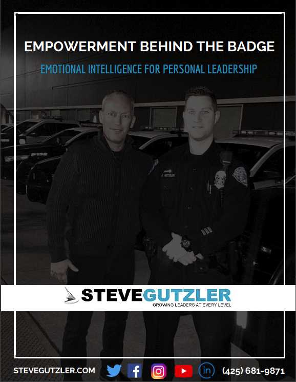 "In my latest training, Empowerment Behind the Badge, Emotional Intelligence for Personal Leadership, you will learn the skills to deal with the public when emotions run high. How to ""Play big"" and perform at your best as a personal leader."