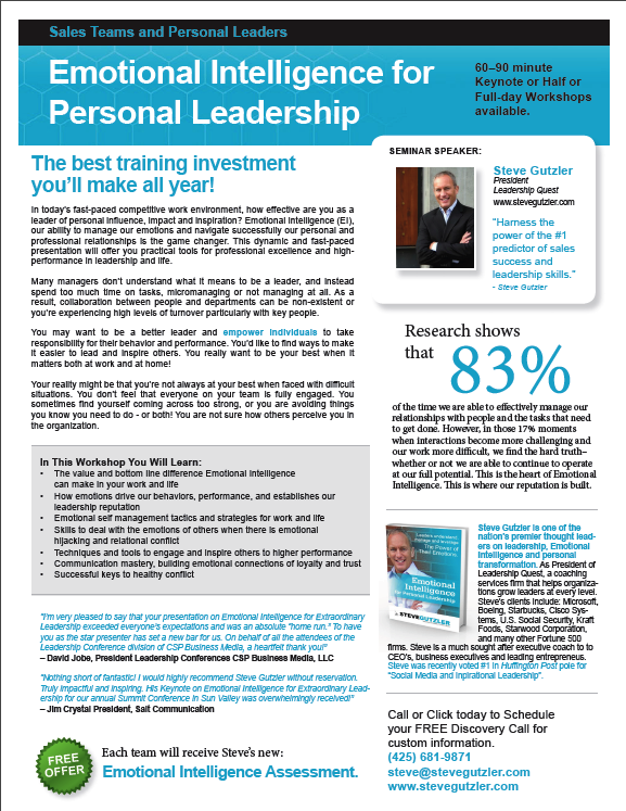 Click to download my informational flyer on Emotional Intelligence.