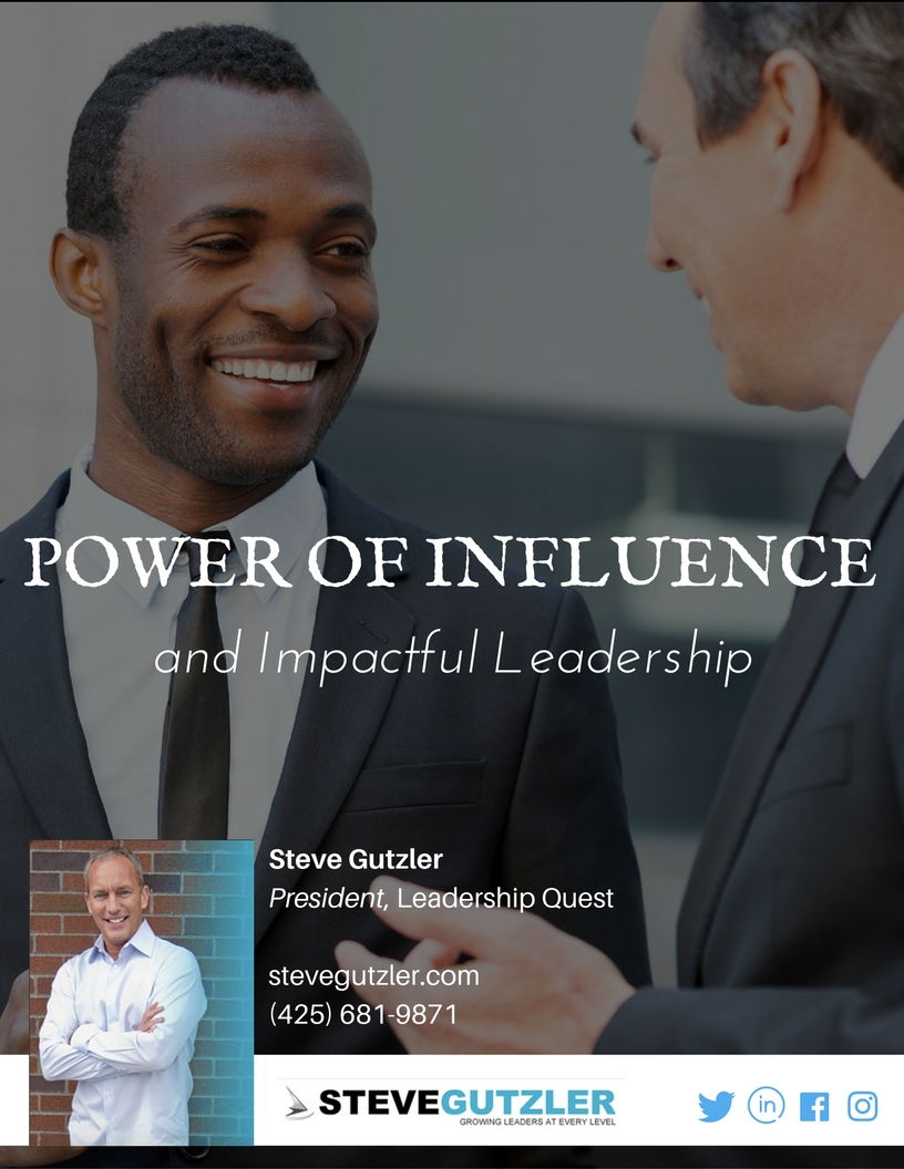 Believe it or not, the most effective way to make an impact in work is to make an impact on individual people. Read more about the Power of Influence!