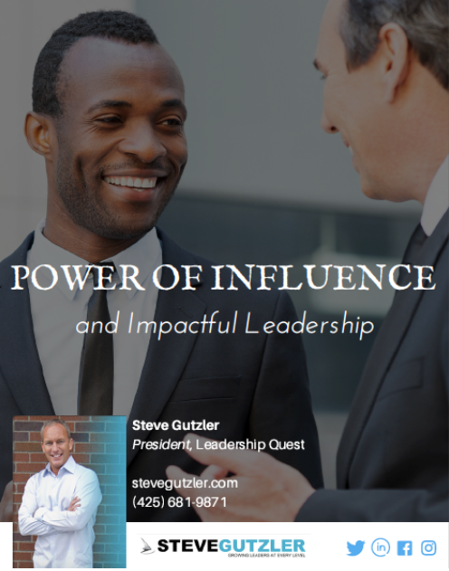 New! Training and Keynote Presentation, Power of influence and Impactful Leadership.
