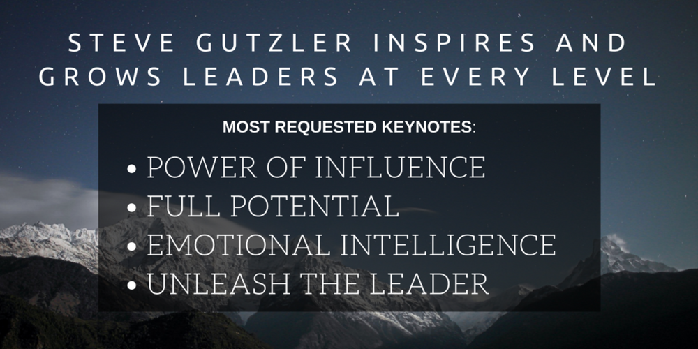 Learn more about Steve's most requested keynote presentations by clicking the image above!