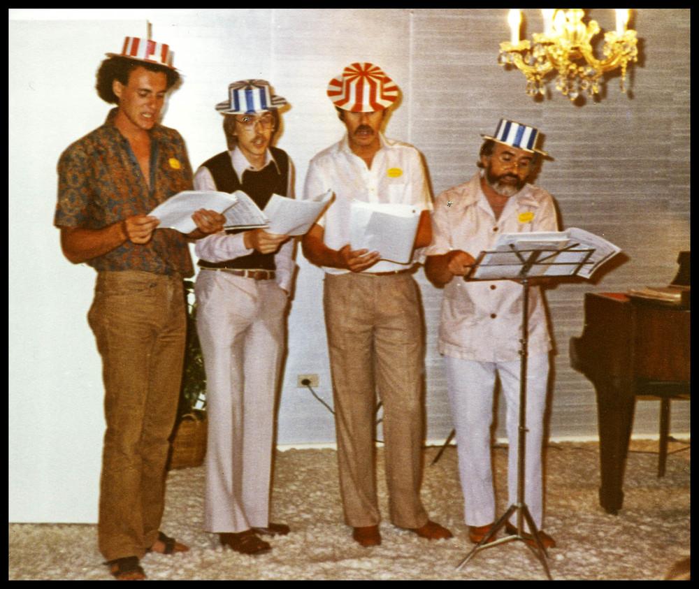 An  ad hoc  barbershop quartet.