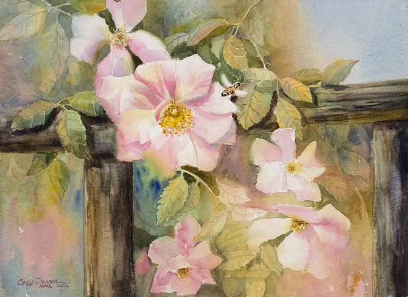 Fenceline Roses_11x15_watercolorpaper_cecyturner.jpg