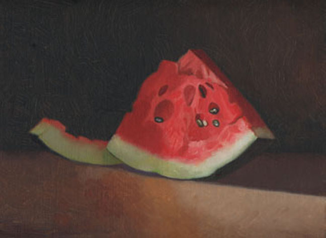 watermelon slice 9x12 oil mikeschroeder.jpg