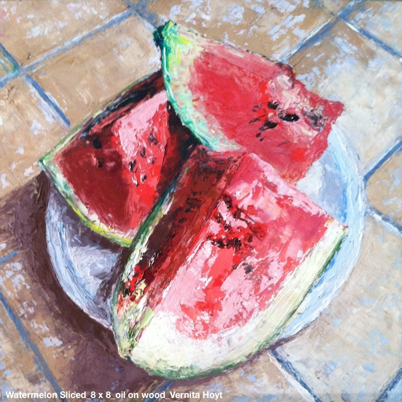 WatermelonSliced_8x8_oilwood_vernitahoyt.jpg