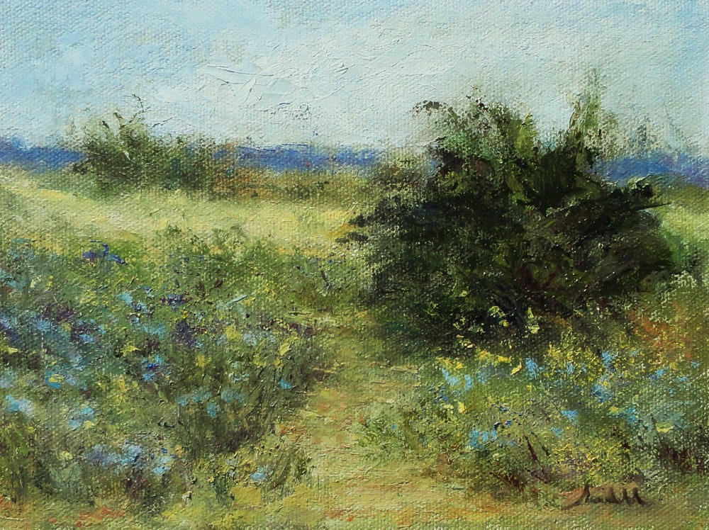 wildflowers on chalk mt. rd._ 6x8_oil_jill randall.JPG