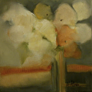 M.Allison-One Orange Flower-14X11-oil.JPG