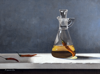 Pepper Sauce  9x12  Oil on Linen  Mike Schroeder  $1,200.00.png