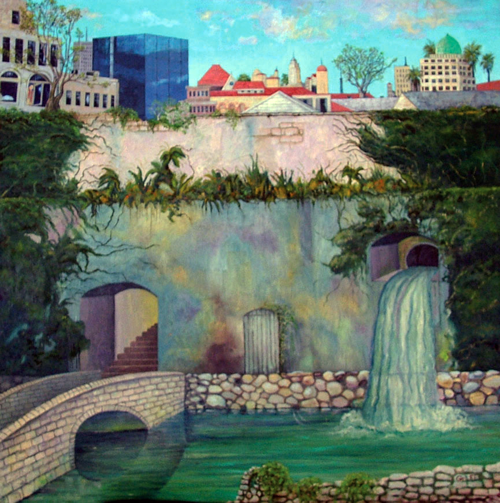 George Lee_Riverwalk_49.5x49.75_oil and acrylic on canvas.jpg