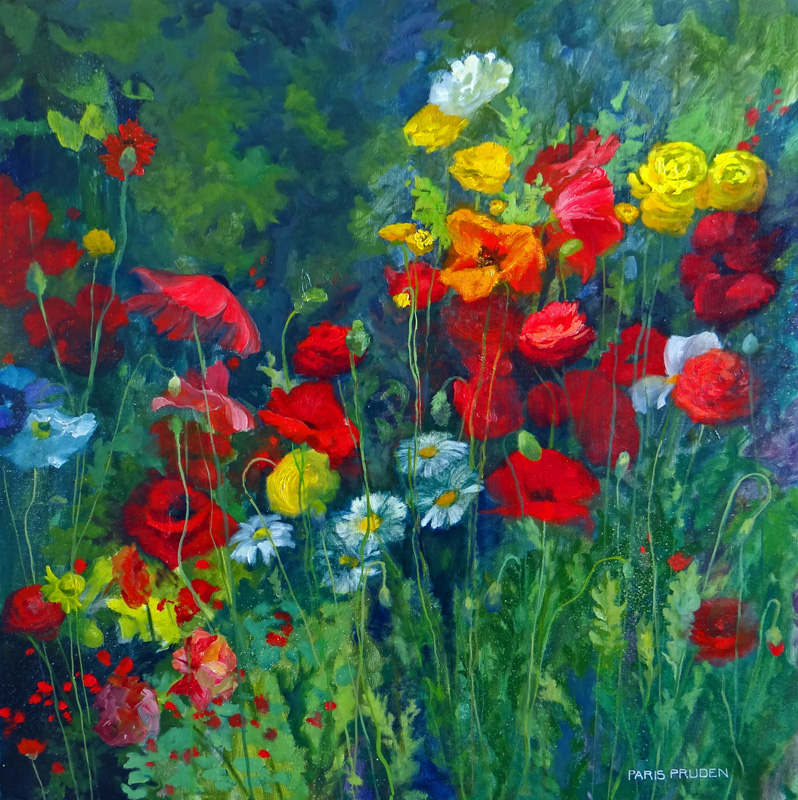Nancy Paris Pruden,Field of Poppies30x30oil linen.jpg