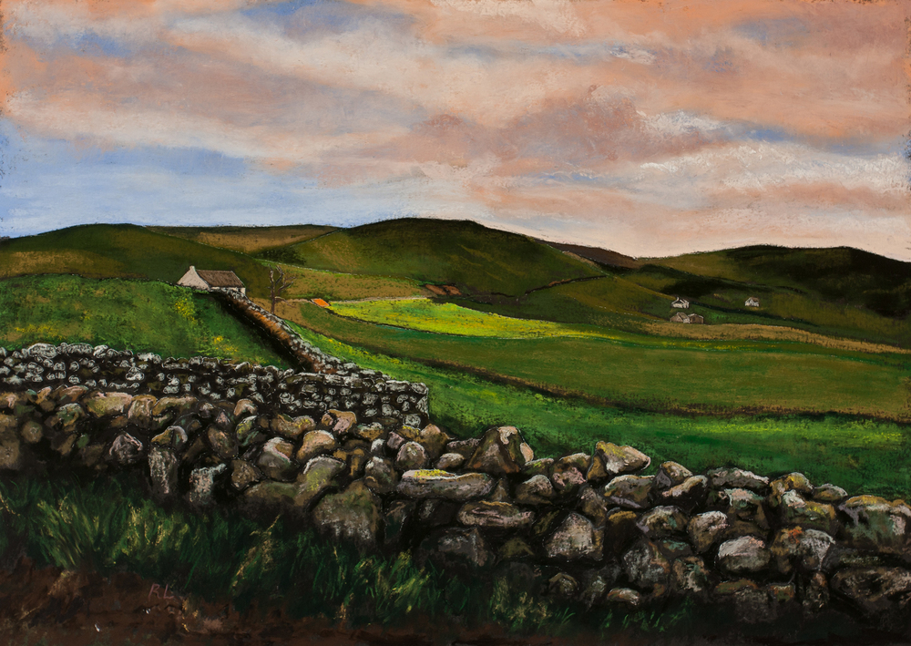 RichardLevine_FarmsonTheTrotternish_18x25_Pastel.jpg