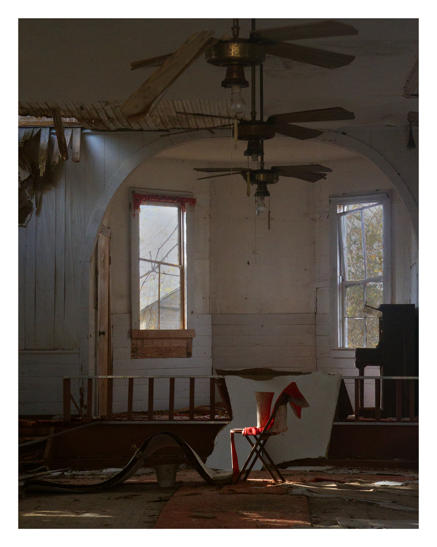 Clayton Gardinier Chair in Abandoned Church Photograph16 x 20.jpg